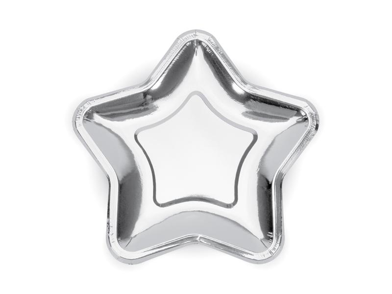 Talerzyki papierowe Gwiazdki, 18 cm, 6 sztuk 32356748