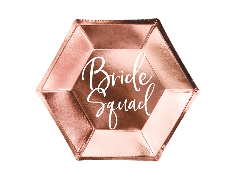 Talerzyki Bride squad, różowe złoto, 23 cm, 6 sztuk 32289480