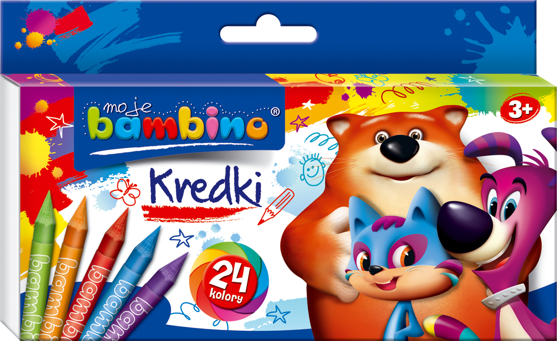 Kredki, Moje Bambino, 24 Kolory 15408709