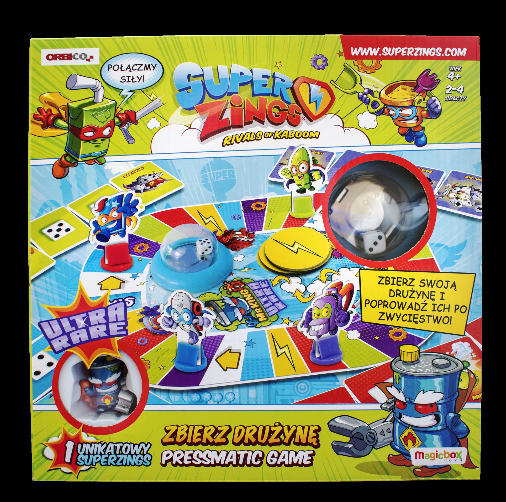 Super Zings, gra planszowa Zbierz Drużynę 35286387