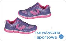 Turystyczne i sportowe dla dziewczynki