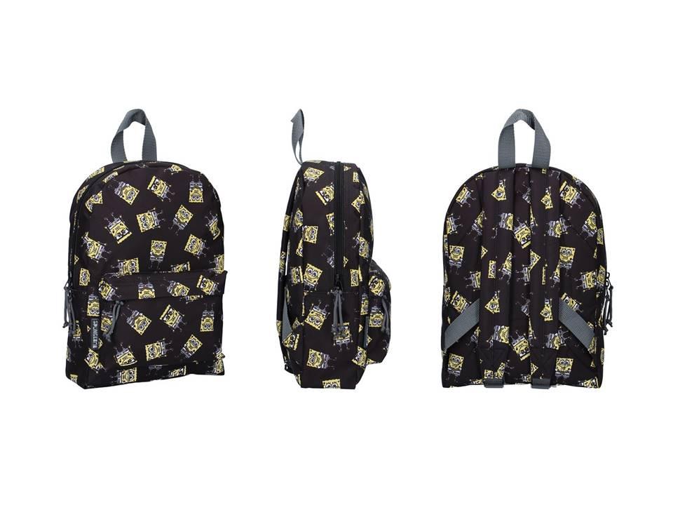 Forcetop, plecak szkolny, SpongeBob, czarny
