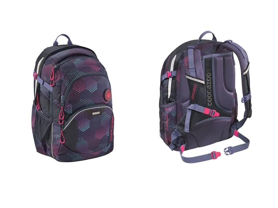 Plecak szkolny JobJobber II, Purple Illusion, system MatchPatch
