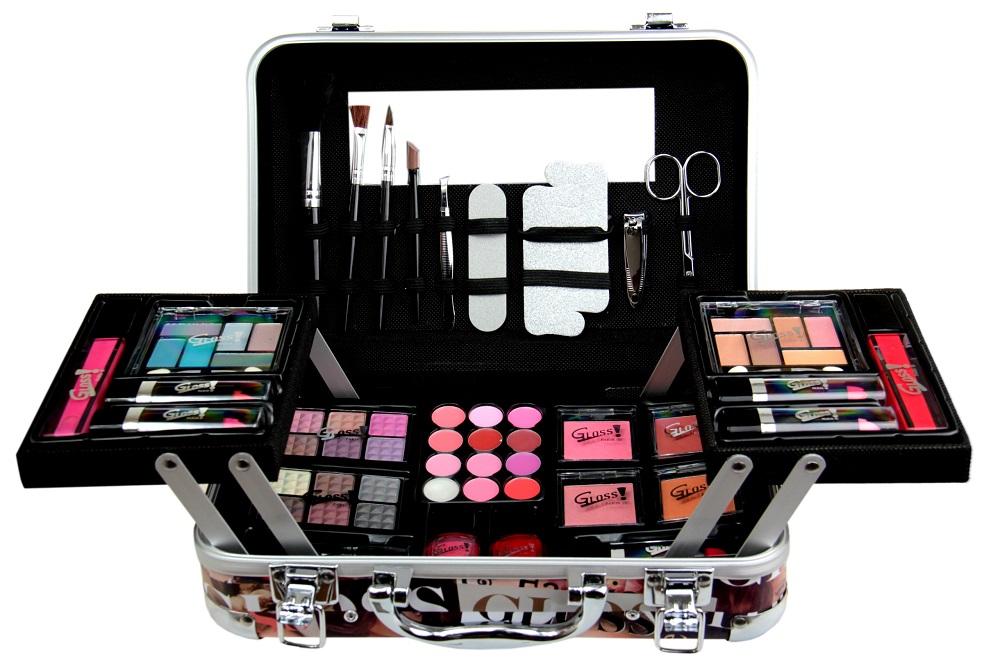 Gloss zestaw do makijażu z kuferkiem
