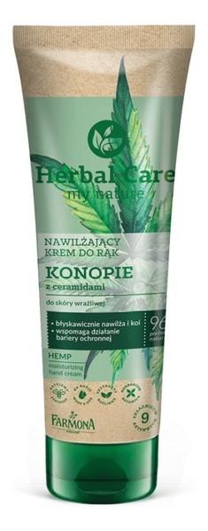 Farmona Herbal Care nawilżający krem do rąk konopie z ceramidami 100 ml