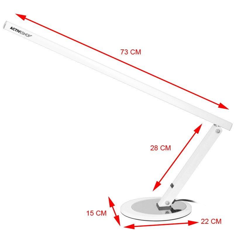 Activ, lampka kosmetyczna na biurko 20W biała, 1 szt.