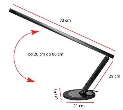 Activ lampka kosmetyczna na biurko 20W czarna 1 szt.